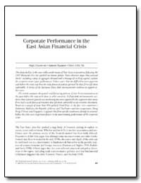 Corporate Performance in the East Asian ... by Claessens, Stijn
