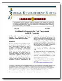 Enabling Environments for Civic Engageme... by The World Bank