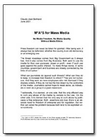 Mas for Mass Media by The World Bank