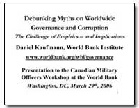 Debunking Myths on Worldwide Governance ... by Kaufmann, Daniel
