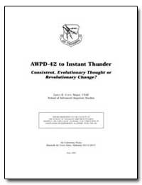 Awpd-42 to Instant Thunder Consistent, E... by Cody, James R.