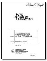 Characteristics Volume I of the Populati... by U. S. Census Bureau Department