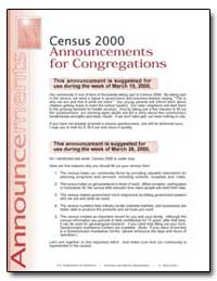 Census 2000 Announcements for Congregati... by U. S. Census Bureau Department