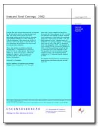 Iron and Steel Castings : 2002 by U. S. Census Bureau Department