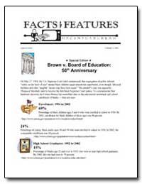 Brown V. Board of Education : 50Th Anniv... by U. S. Census Bureau Department