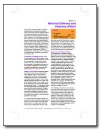 National Defense and Veterans Affairs by U. S. Census Bureau Department