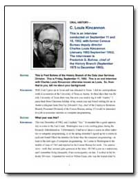 This Is an Interview Conducted on Septem... by Kincannon, Charles Louis