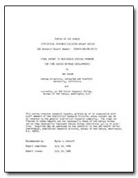 Final Report to Asa/Census Special Progr... by Raveh, Adi