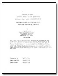 Bureau of the Census Statistical Researc... by Wakim, Paul G.