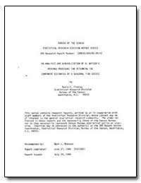 Bureau of the Census Statistical Researc... by Findley, David F.