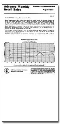 Advance Monthly Retail Sales July 1988 by U. S. Census Bureau Department