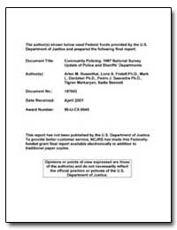 Federal Funds Provided by the U. S. Depa... by Cosgrove, Colleen