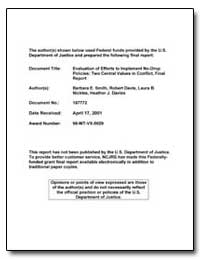 Evaluation of Efforts to Implement No-Dr... by Smith, Barbara E.