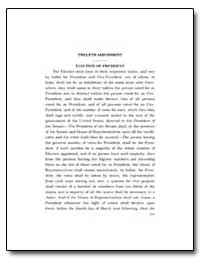 Twelfth Amendment by Government Printing Office