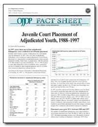 Juvenile Court Placement of Adjudicated ... by Puzzanchera, Charles M.
