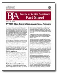 Fy 1999 State Criminal Alien Assistance ... by Gist, Nancy E.