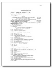 Transportation Acts by Government Printing Office