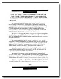 XVIII. The Intelligence Community's Shar... by Government Printing Office