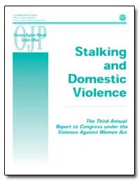 Stalking and Domestic Violence the Third... by Government Printing Office