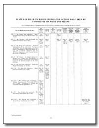 Status of Bills on Which Legislative Act... by Government Printing Office