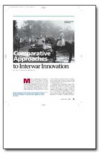 Comparative Approaches to Interwar Innov... by Murray, Williamson