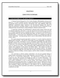 Chapter I Executive Summary by Department of Defense