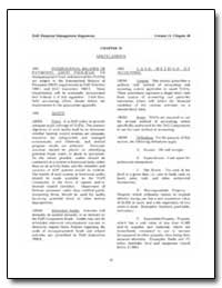 Chapter 10 Miscellaneous by Department of Defense