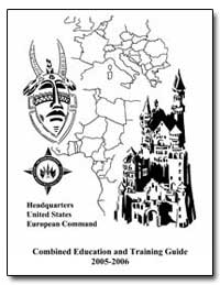 Combined Education and Training Guide 20... by Department of Defense