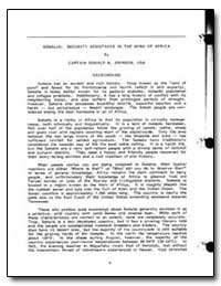 Somalia: Security Assistance in the Horn... by Johnson, Donald M., Captain