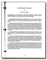 International Terrorism by Oakley, Robert B.