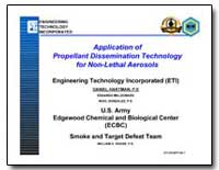 Application of Propellant Dissemination ... by Hartman, Daniel