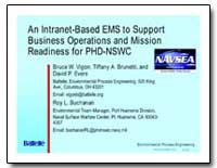 An Intranet-Based Ems to Support Busines... by Vigon, Bruce W.