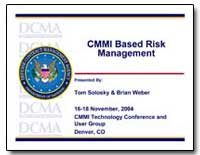Cmmi Based Risk Management by Solosky, Tom