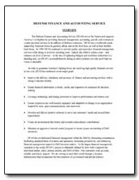 Defense Finance and Accounting Service O... by Department of Defense