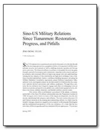 Sino-Us Military Relations Since Tiananm... by Yuan, Jing-Dong