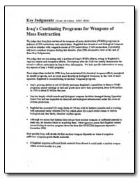 Iraq's Continuing Programs for Weapons o... by Department of National Security