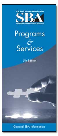 Programs and Services 5Th Edition by Small Business Administration