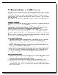The Economic Impact of Small Businesses by Small Business Administration