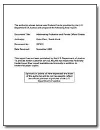 Addressing Probation and Parole Officer ... by Hart, Sarah V.