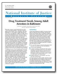 Drug Treatment Needs Among Adult Arreste... by Travis, Jeremy