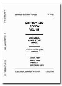 Military Law Review Volume 81 by Park, Percival D., Major