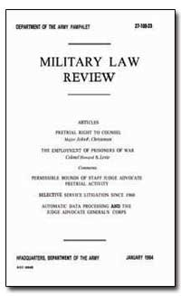 Military Law Review by Christensen, John F.