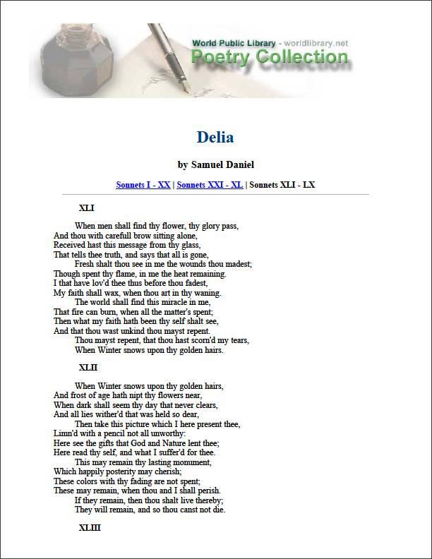 Delia by Daniel, Samuel