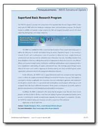 Superfund Basic Research Program by Thompson, Claudia