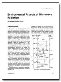 Environmental Aspects of Microwave Radia... by Donald I. Mcree, Ph. D.