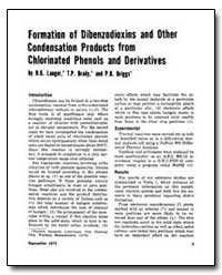 Formation of Dibenzodioxins and Other Co... by Langer, H. G.