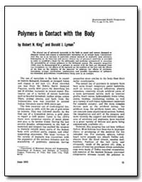 Polymers in Contact with the Body by King, Robert N.