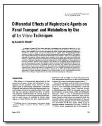 Differential Effects of Nephrotoxic Agen... by Hirsch, Gerald H.