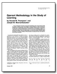 Operant Methodology in the Study of Lear... by Thompson, Donald M.