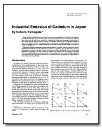 Industrial Emission of Cadmium in Japan by Yamagata, Noboru